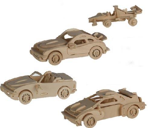 Drewniane Puzzle 3D samochód