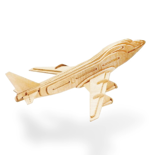 Drewniane puzzle 3D samolot