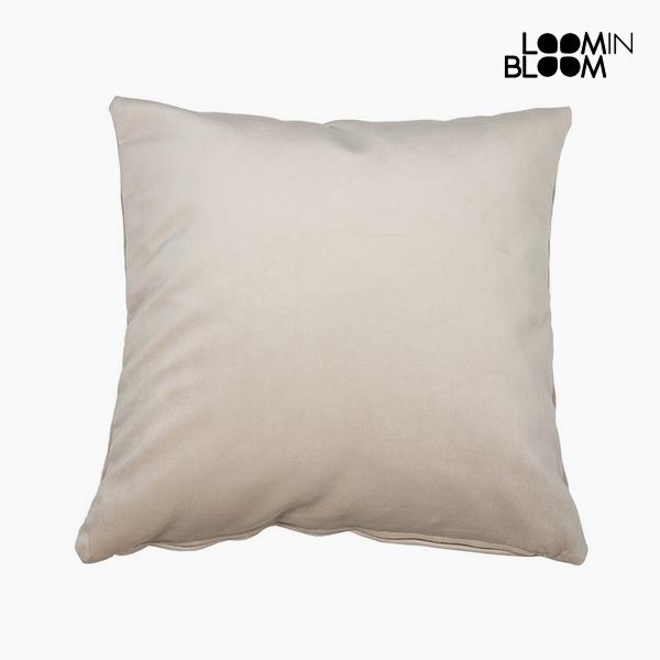 Poduszka Poliester Beżowy (45 x 45 x 10 cm) by Loom In Bloom