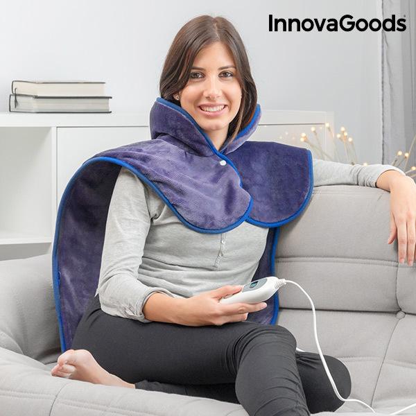 Poduszka Elektryczna na Szyję, Ramiona i Plecy InnovaGoods 60 x 90 cm 100W Indygo