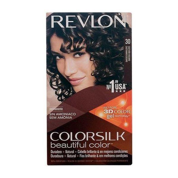 Farba bez Amoniaku Colorsilk Revlon Ciemny szatyn