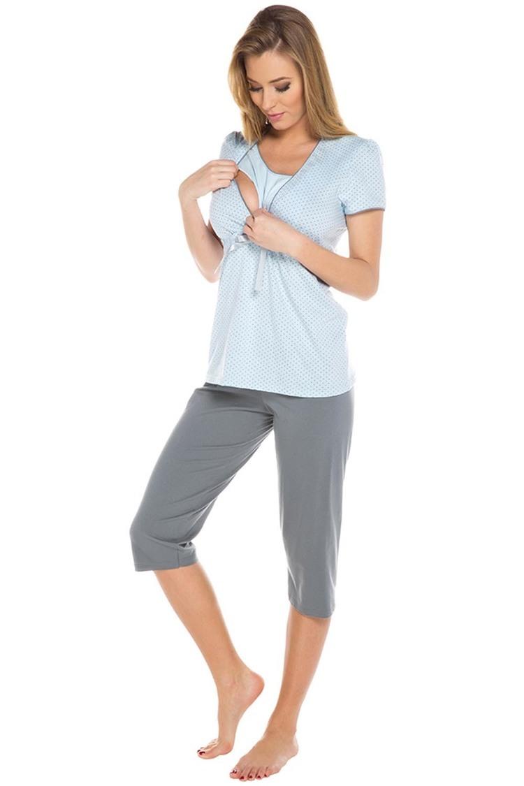 Piżama Damska Model Felicita kr.r. sp.3/4 Blue - Italian Fashion