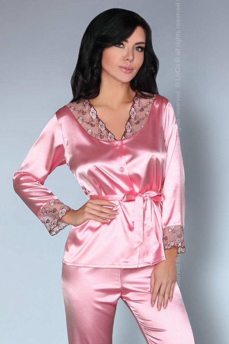 Piżama Damska Model Tomana Pink - Livia Corsetti Fashion