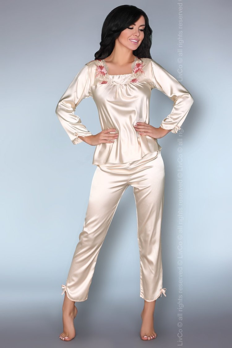 Piżama Damska Model Nima Ecru - Livia Corsetti Fashion