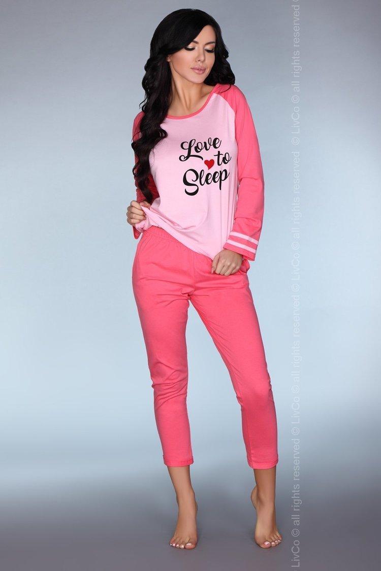 Piżama Damska Model Malblea Pink - Livia Corsetti Fashion