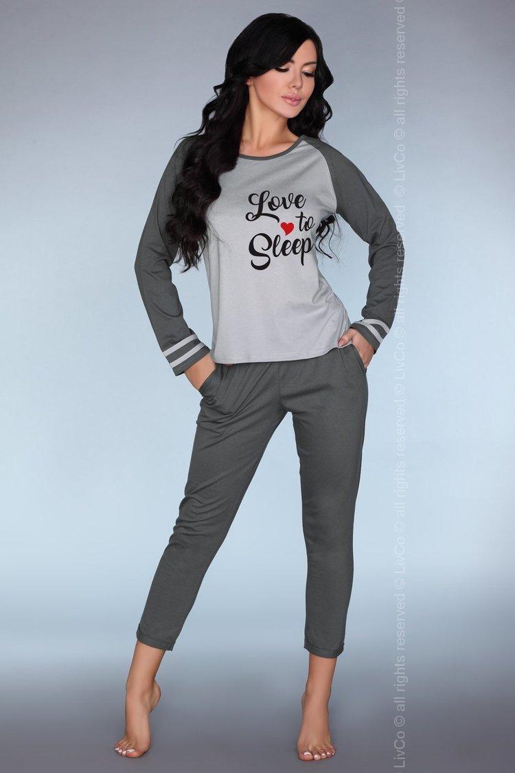Piżama Damska Model Linza Grey - Livia Corsetti Fashion