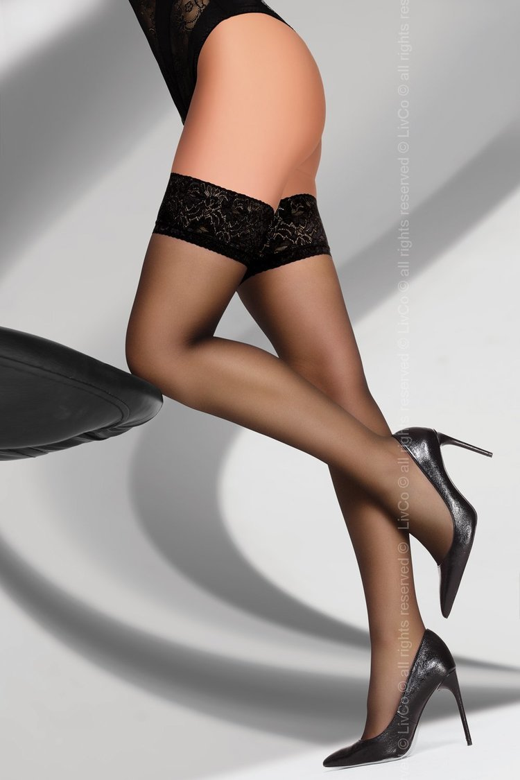 Pończochy Model Kornelie 20 DEN Black - Livia Corsetti Fashion