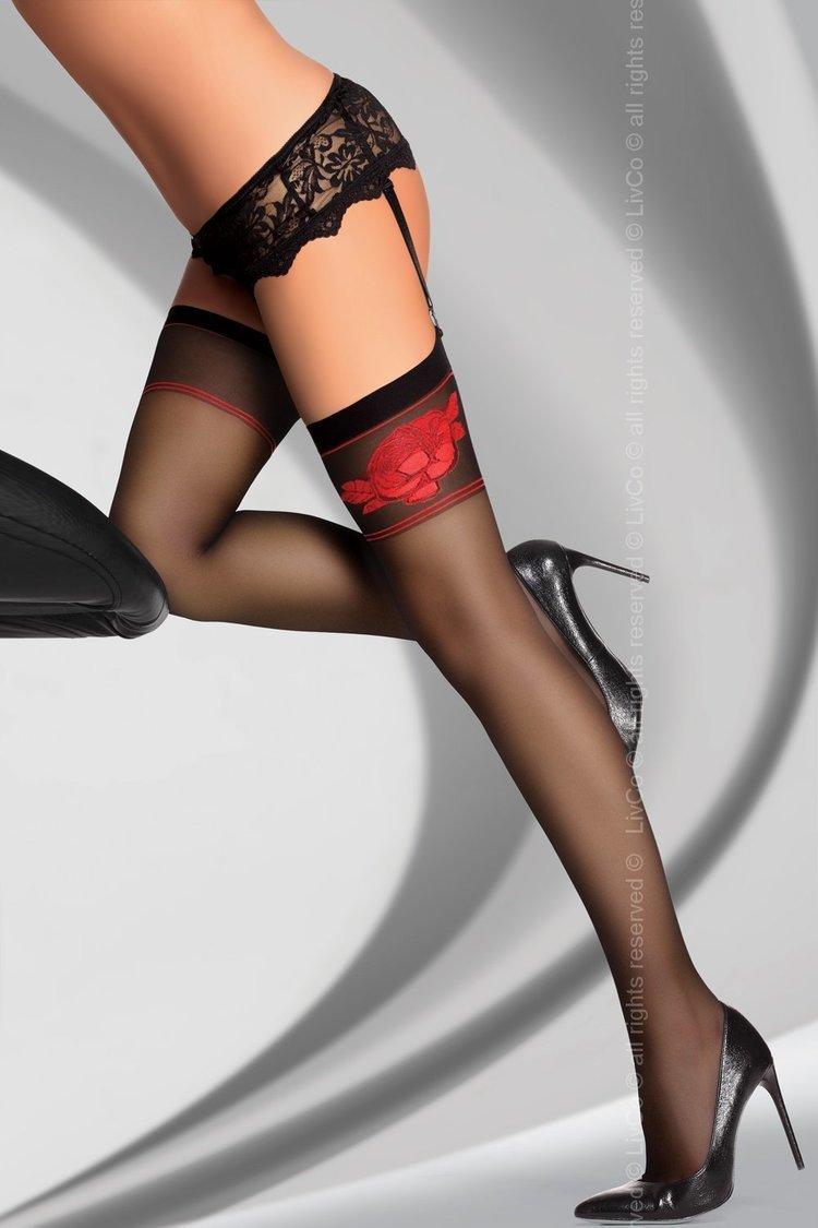 Pończochy Model Amarachia 20 DEN Black - Livia Corsetti Fashion