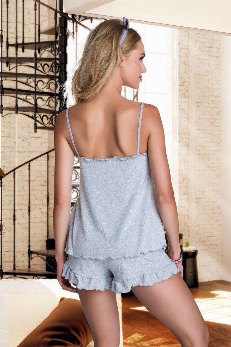 Piżama Damska Model Elian Grey - Eldar