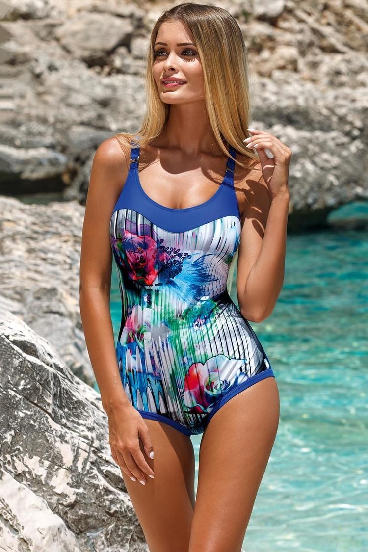 Jednoczęściowy strój kąpielowy Kostium Jednoczęściowy Model L4100/7 Chaber - Lorin