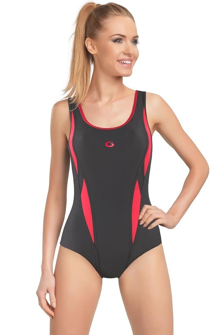 Jednoczęściowy strój kąpielowy Kostium Kąpielowy Model Aqua I Grafit/Pink - GWINNER