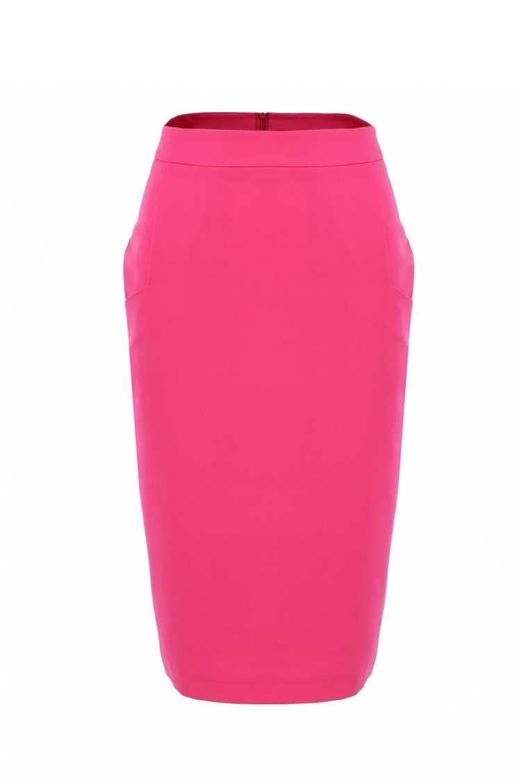 Spódnica Zwężana spódnica z kieszeniami SP33 Fuksja - Nife