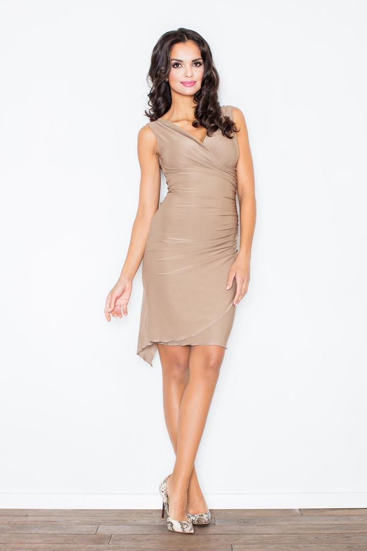 Sukienka sukienka 053 beżowa  - Figl