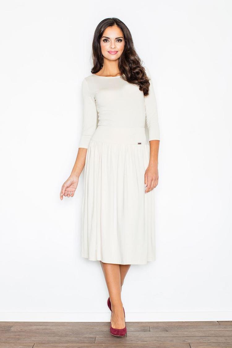 Sukienka Komplet Model 322 Ecru - Figl