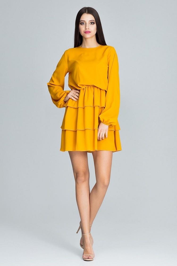 Sukienka Model M601 Musztard - Figl