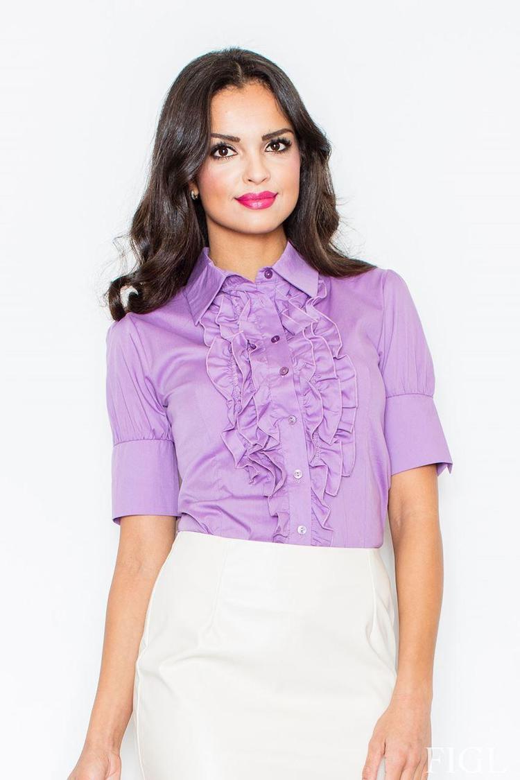 Koszula z żabotem 25 fiolet - Figl