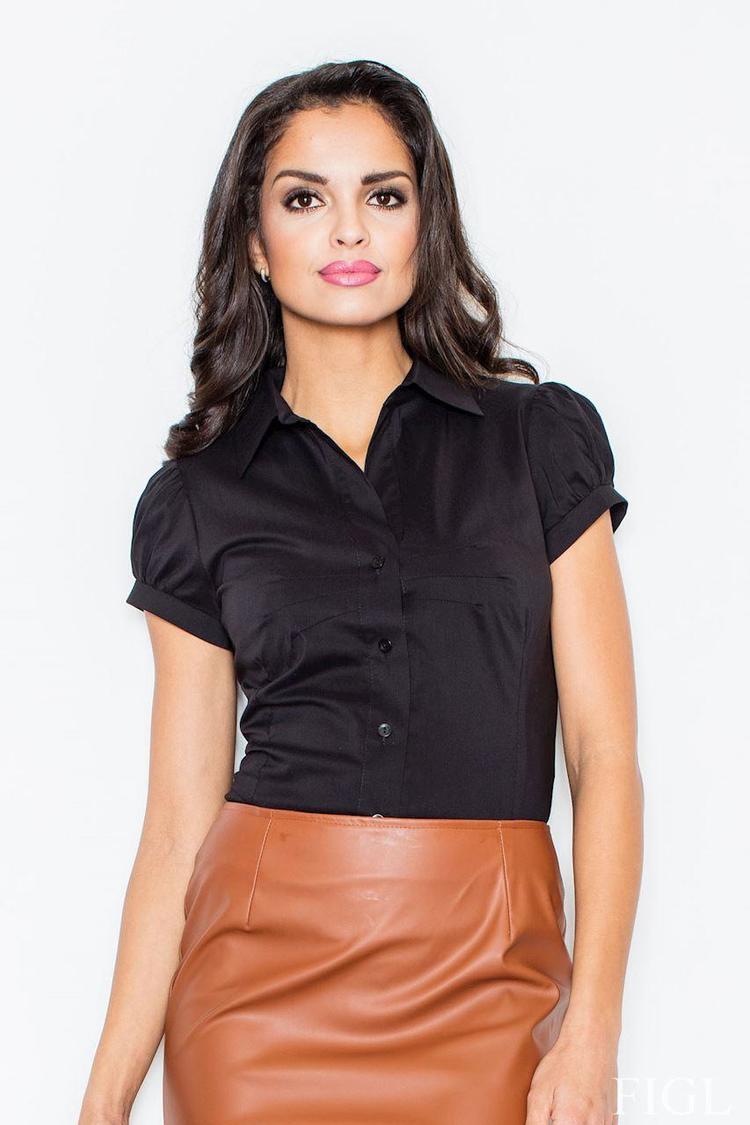 Klasyczna koszula 26 czarna - Figl