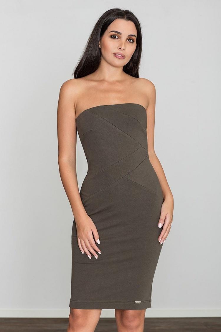 Sukienka Model M575 Oliwka - Figl