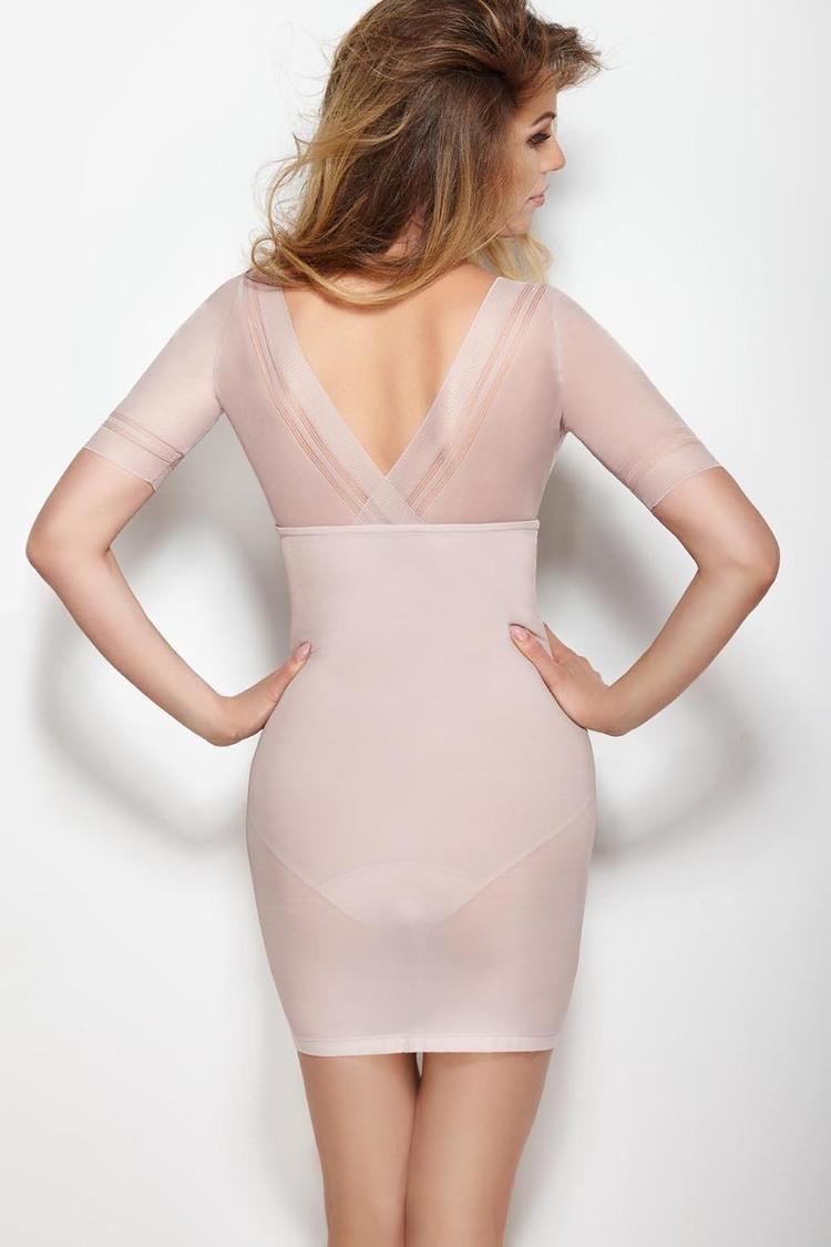 Halka Model Glossy Dress Powder Pink - Mitex