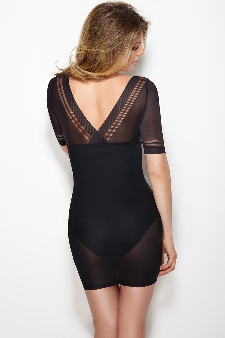 Halka Model Glossy Dress Black - Mitex