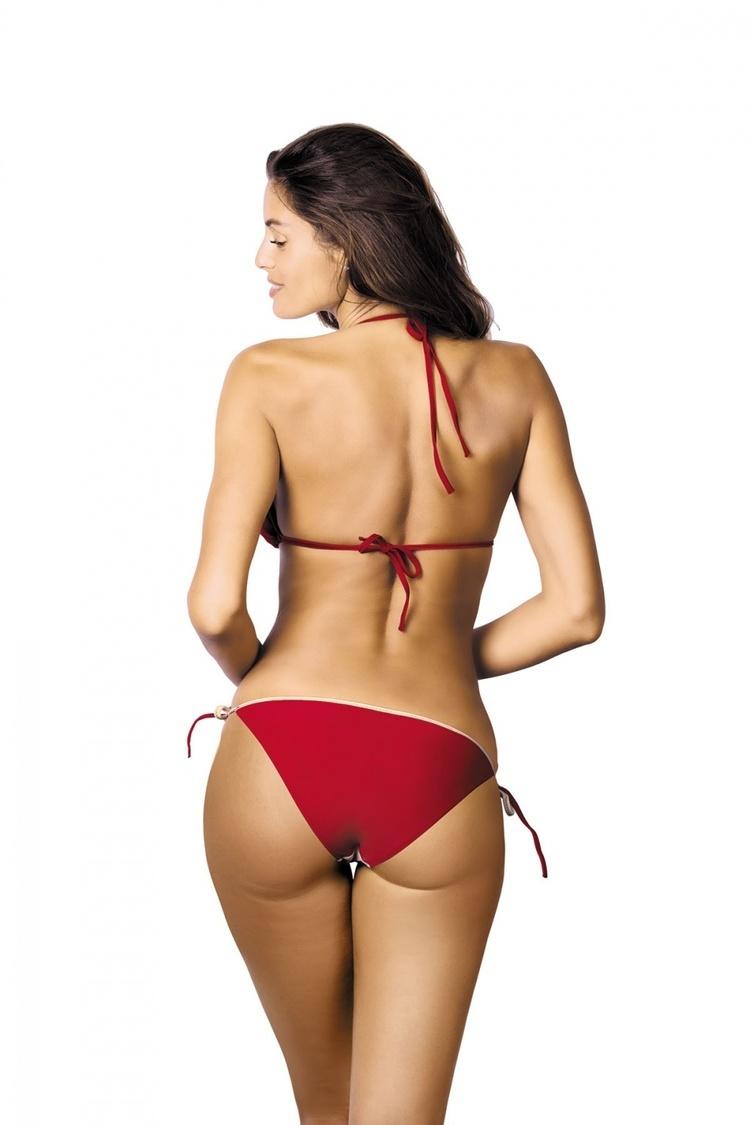 Kostium dwuczęściowy Kostium Kąpielowy Model Anis Vanilla-Coccinella M-427 Red/Wanilia - Marko