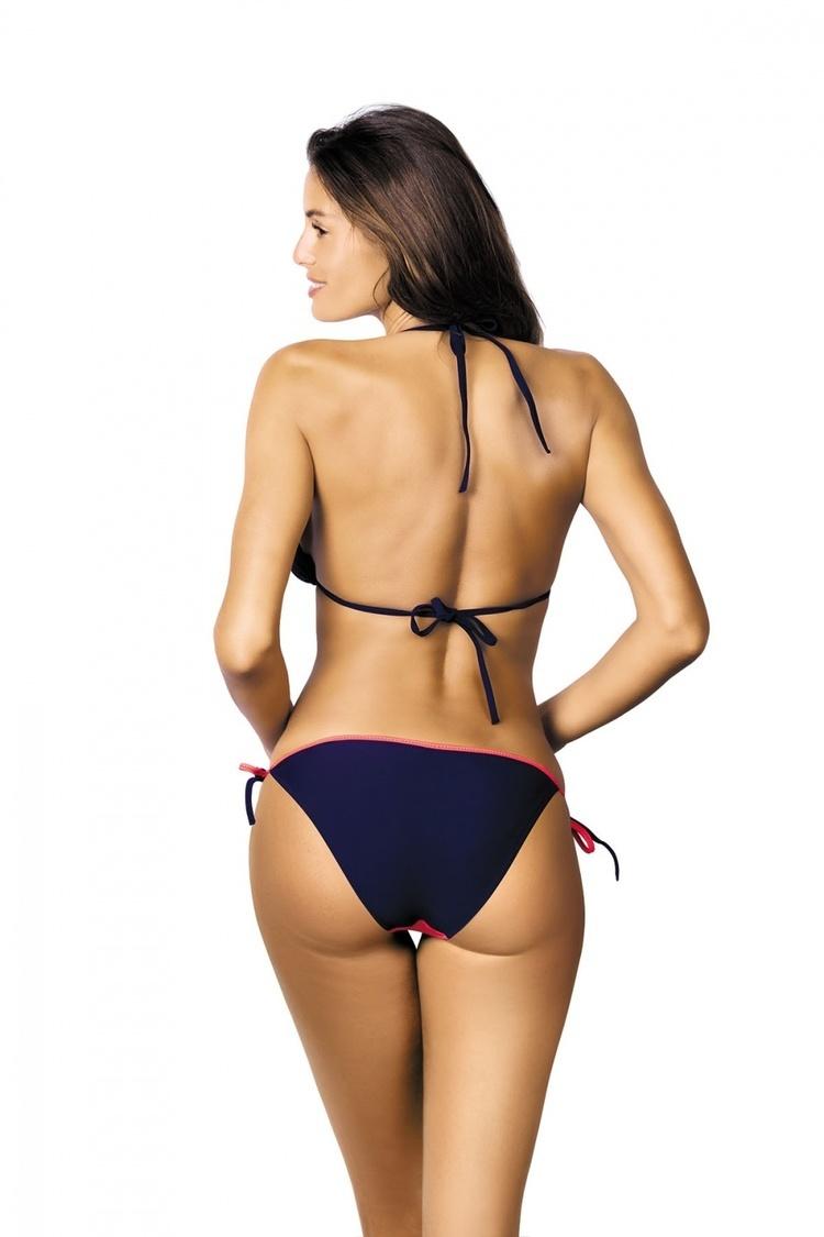 Kostium dwuczęściowy Kostium Kąpielowy Model Anis Origami-Blueberry M-427 Navy/Light Pink - Marko