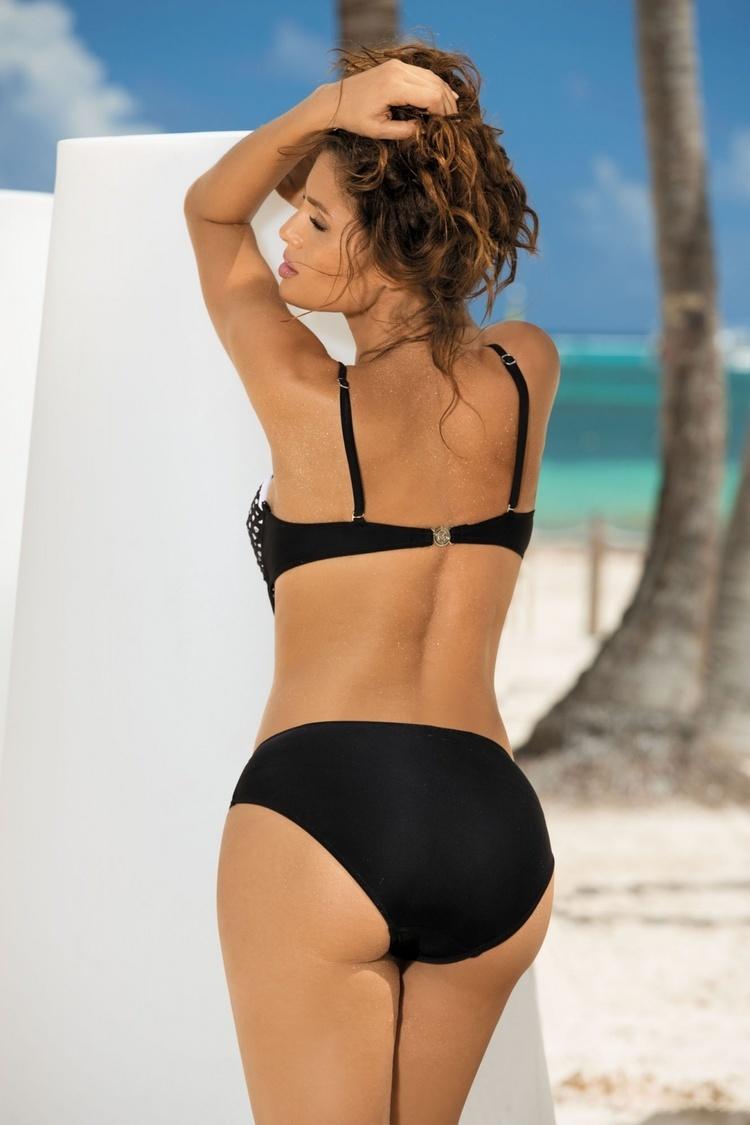 Jednoczęściowy strój kąpielowy Kostium Kąpielowy Model Shelby Nero-Turchesse M-372 Black/Green - Marko