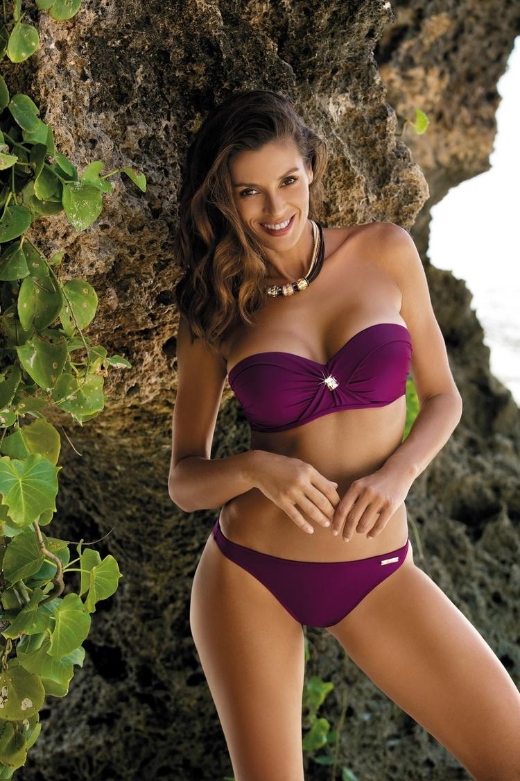 Kostium dwuczęściowy Kostium Kąpielowy Model Brittany Magenta Purple M-393 Violet - Marko