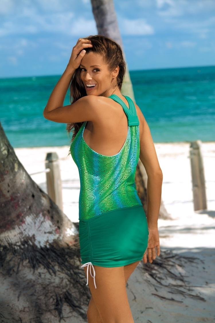Sukienka Plażow Tunika Model Ariel Natura M-366 Green - Marko