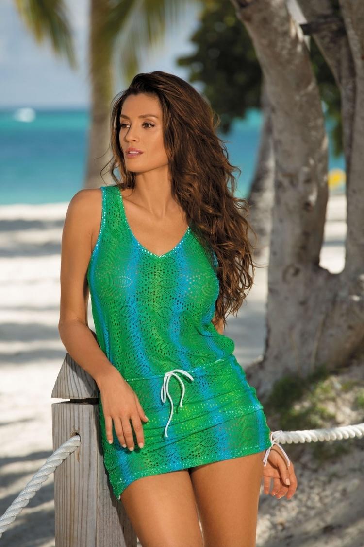 Sukienka Plażow Tunika Model Elissa Crickiet M-367 Green - Marko
