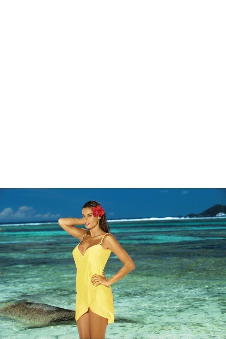 Sukienka Plażow Pareo Model D Lime Yellow - Marko