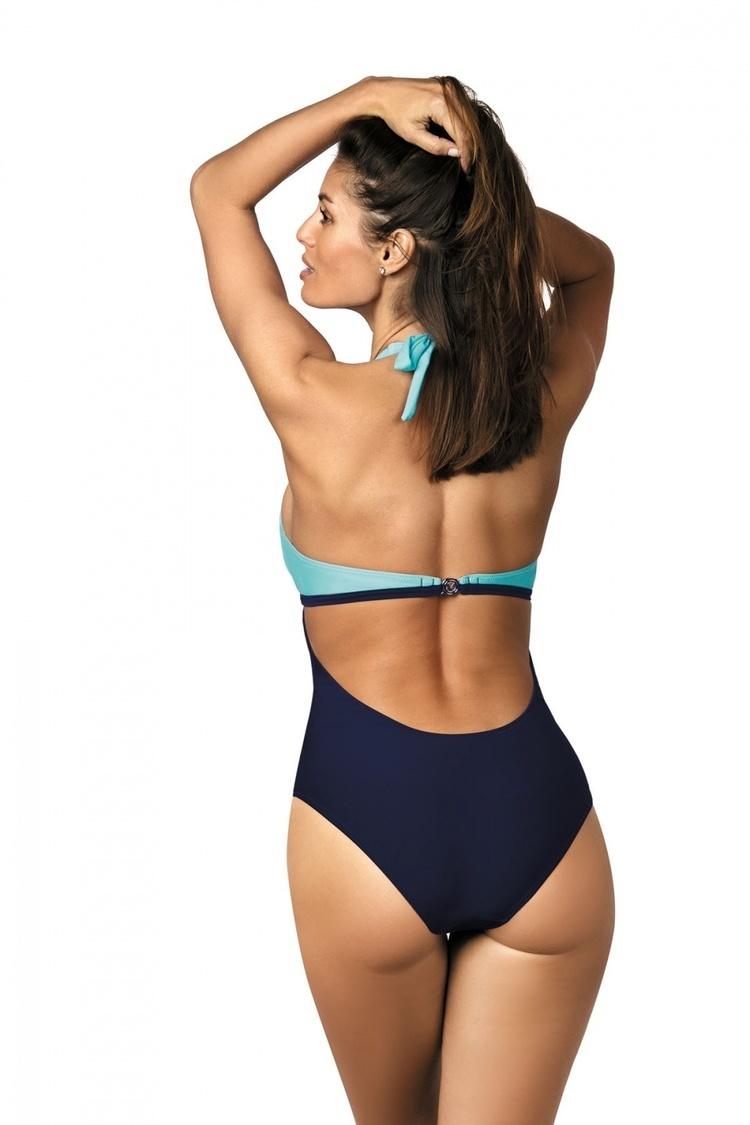 Jednoczęściowy strój kąpielowy Kostium Kąpielowy Model Priscilla Skipper-Cosmo M-428 Sky Blue/Navy - Marko