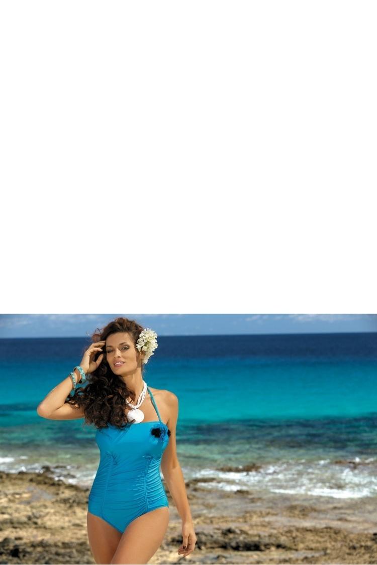 Jednoczęściowy strój kąpielowy Kostium Kąpielowy Model Shila M-202 Blue - Marko