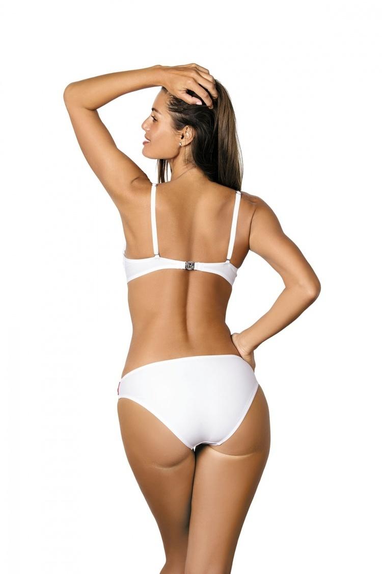 Jednoczęściowy strój kąpielowy Kostium Kąpielowy Model Mandy Bianco M-423 White - Marko