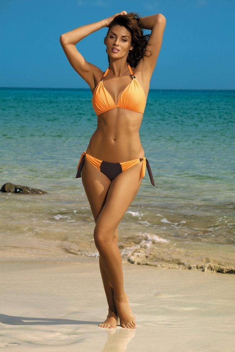 Kostium dwuczęściowy Kostium Kąpielowy Model Roxie Seppia-Paperino M-326 Orange/Chocolate - Marko