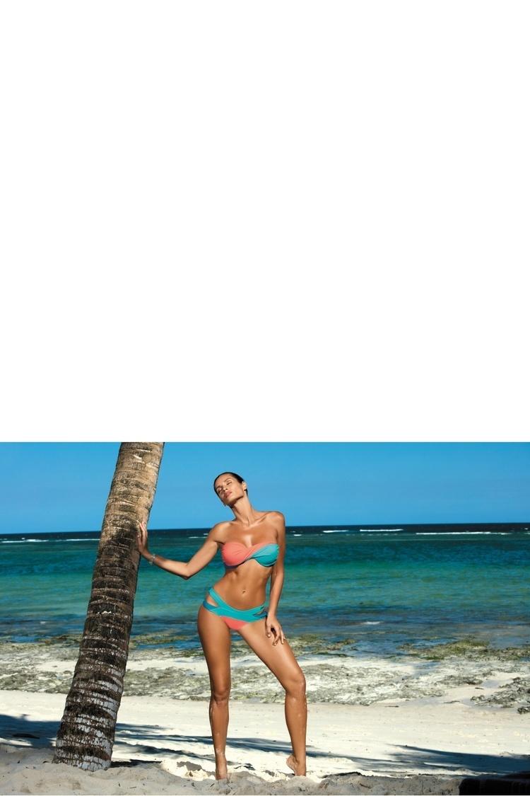 Kostium dwuczęściowy Kostium Kąpielowy Model Olimpia Martinica-Semifreddo-Peacook M-438 Coral/Turkus - Marko
