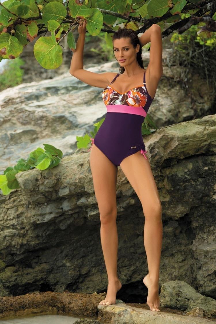 Jednoczęściowy strój kąpielowy Kostium Kąpielowy Model Michelle Mora M-332 Dark Violet - Marko