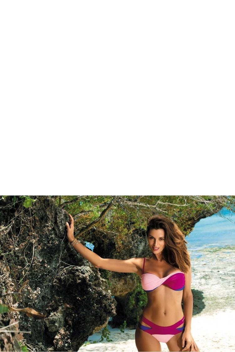 Kostium dwuczęściowy Kostium Kąpielowy Model Olimpia Magenta-Dafne-Baltimorai M-438 Fuksja/Light Pink - Marko
