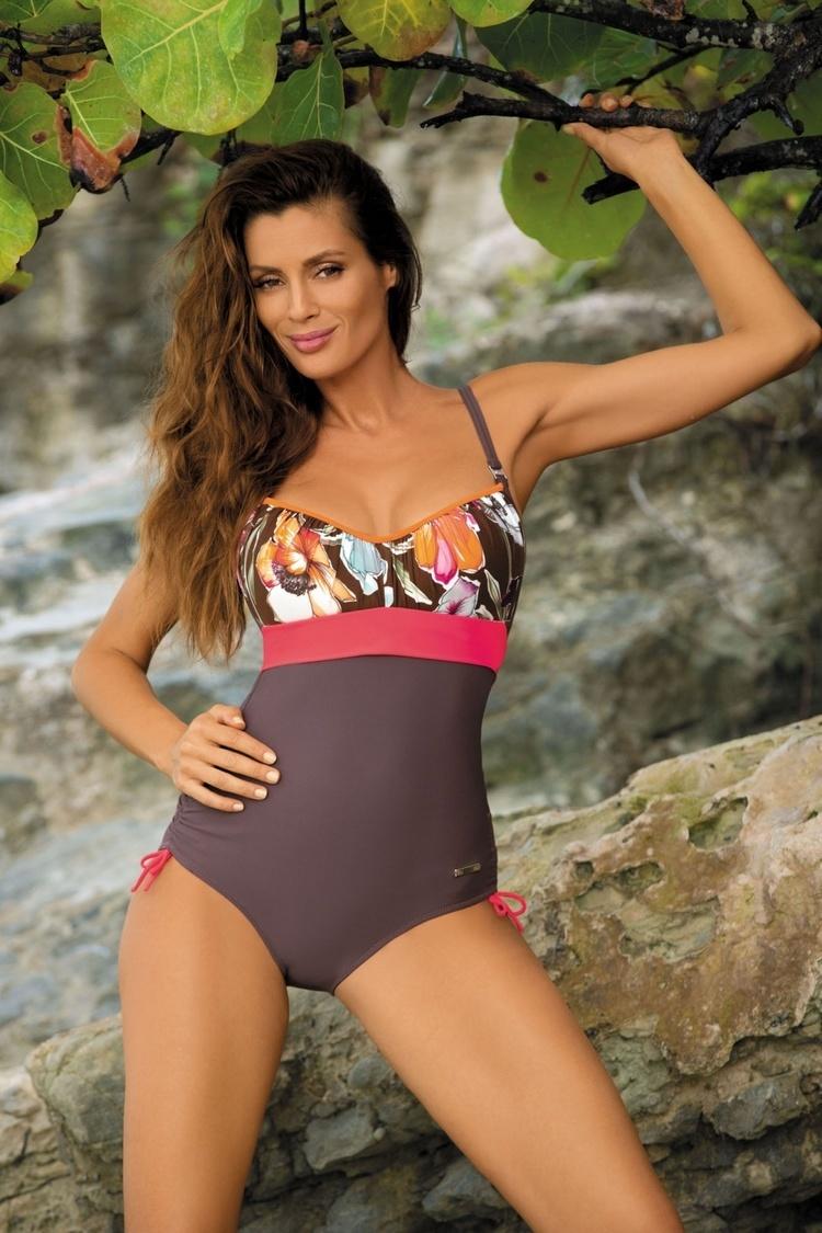 Jednoczęściowy strój kąpielowy Kostium Kąpielowy Model Michelle Cubano M-332 Brown - Marko