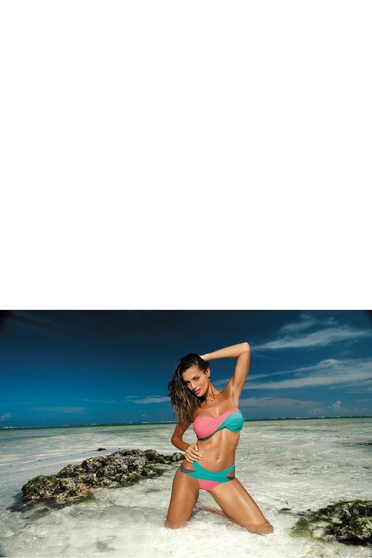 Kostium dwuczęściowy Kostium Kąpielowy Model Olimpia Caraibi-Origami-Andersia M-438 Pink/Mint - Marko