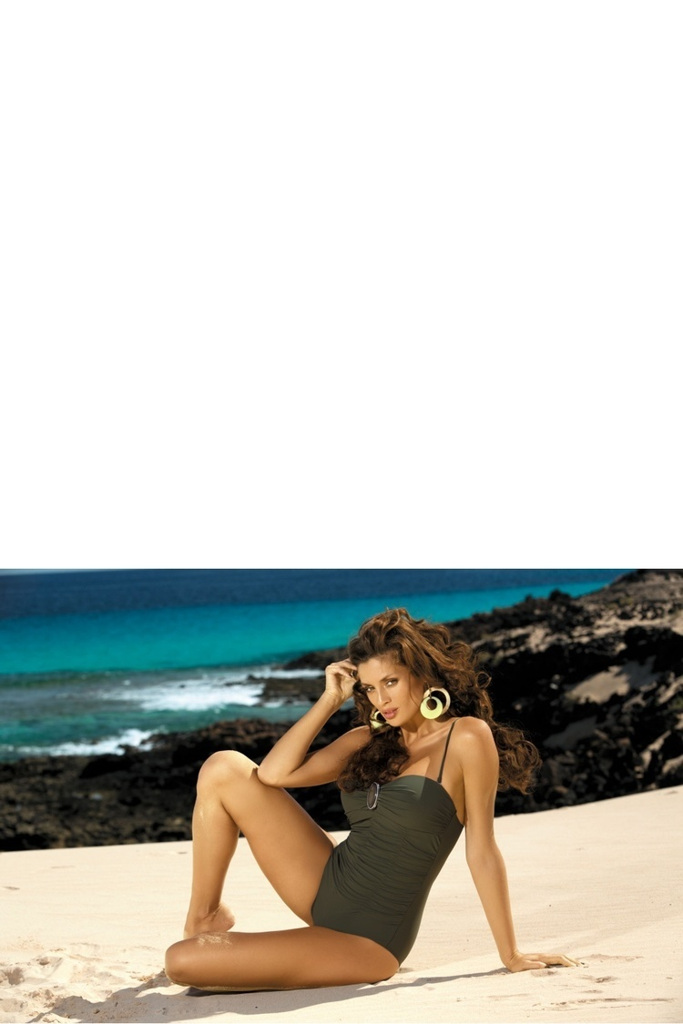 Jednoczęściowy strój kąpielowy Kostium Kąpielowy Model Melanie M-203 Khaki - Marko