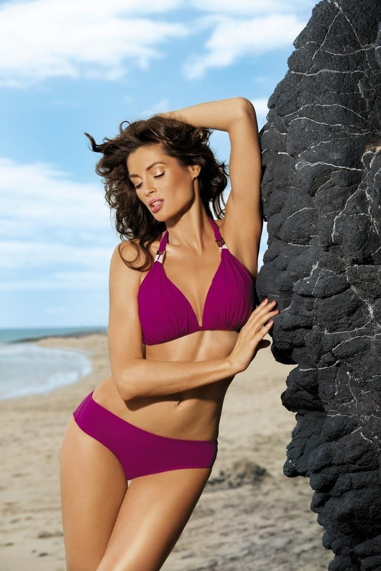 Kostium dwuczęściowy Kostium Kąpielowy Model Lauren Cardinale M-325 Dark Pink - Marko