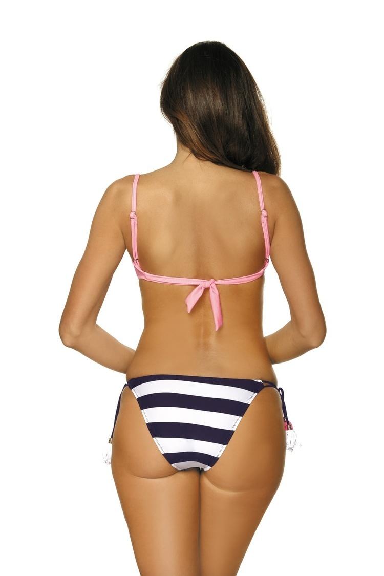 Kostium dwuczęściowy Kostium Kąpielowy Model Andrea Origami M-447 Pink - Marko