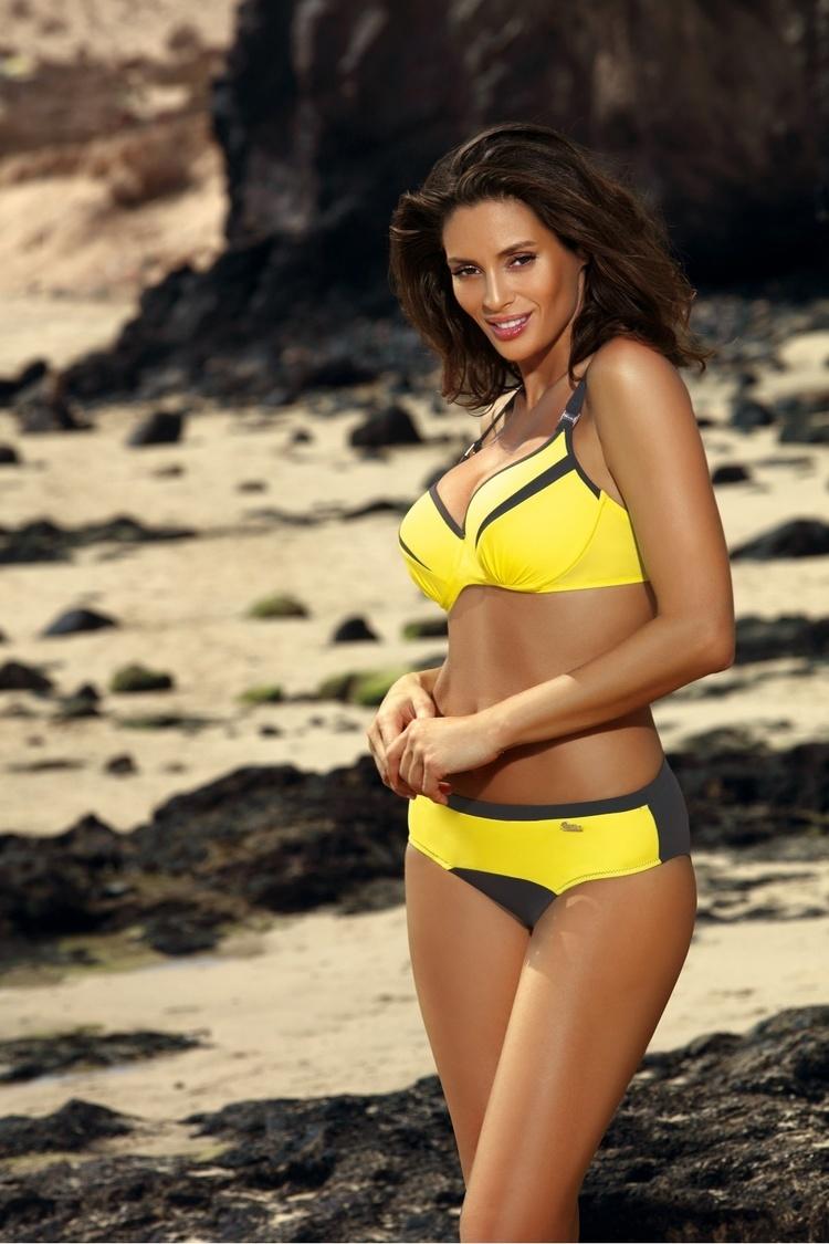 Kostium dwuczęściowy Kostium Kąpielowy Model Barbara Titanium-Tweety M-473 Yellow/Grey - Marko