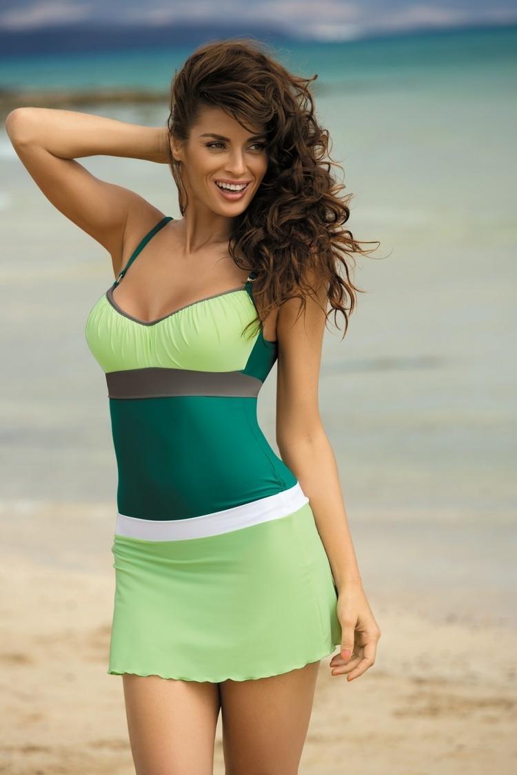 Sukienka Plażow Spódniczka Model Meg Tweety-Bianco M-266 Pistacja/White - Marko