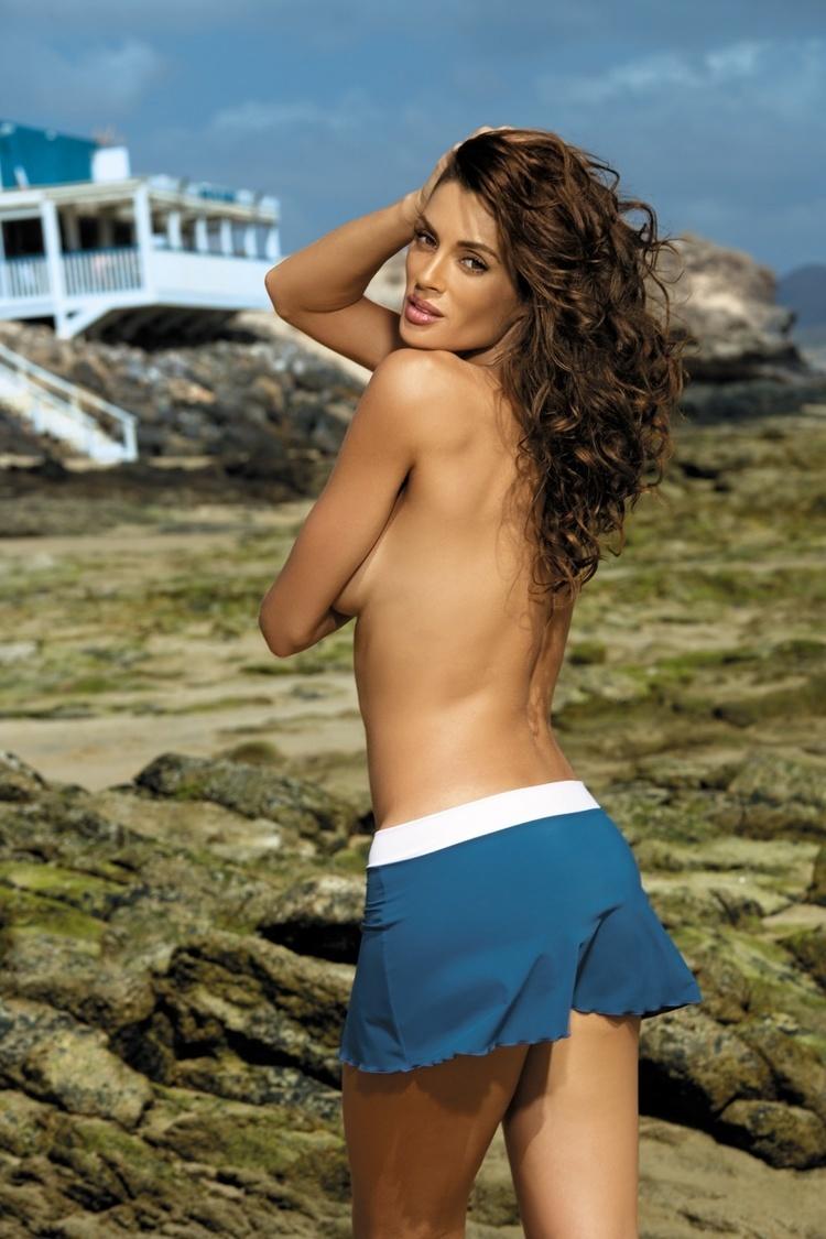 Sukienka Plażow Spódniczka Model Meg Rosso Passione-Bianco M-266 Red/White - Marko
