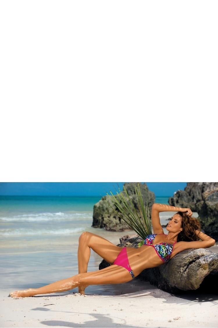 Kostium dwuczęściowy Kostium Kąpielowy Model Debby Fresia M-361 Pink Tropiki - Marko
