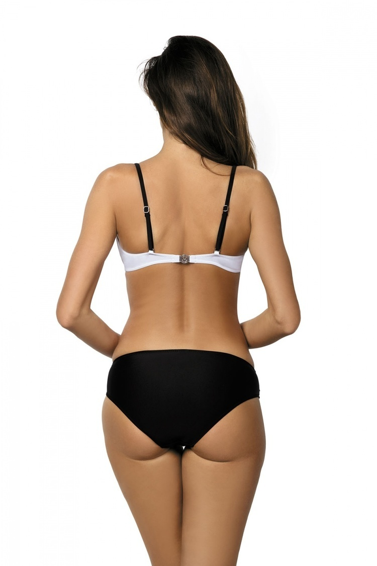 Kostium dwuczęściowy Kostium Kąpielowy Model Lena Nero-Bianco M-305 White/Black - Marko
