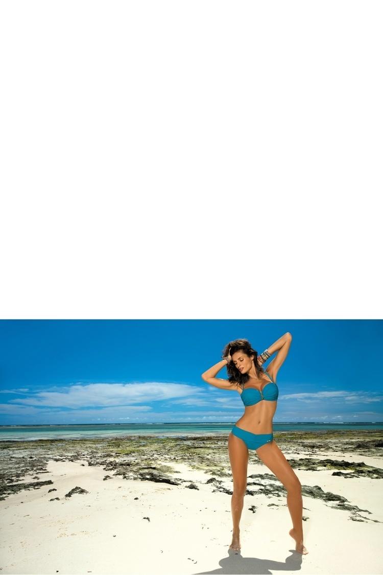 Kostium dwuczęściowy Kostium Kąpielowy Model Amanda Curacao M-386 Morski - Marko