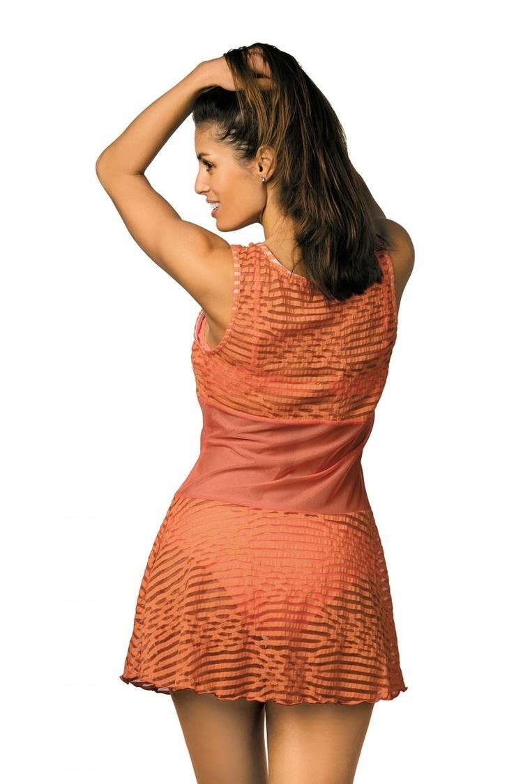 Sukienka Plażow Tunika Model Vivian Gerbera M-414 Orange - Marko
